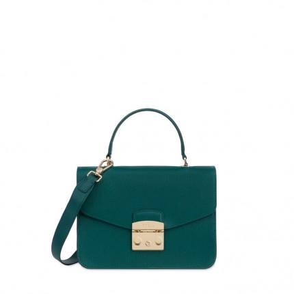 322e87fbd889 Сумка Furla METROPOLIS E 978124 зелёного цвета из кожи - Купить в ...